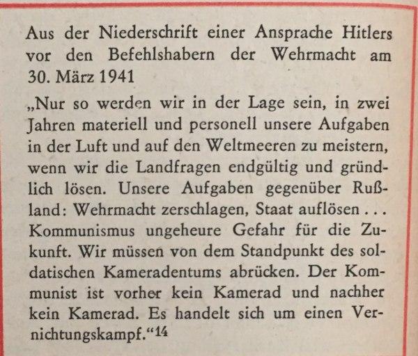 aus Ansprache Hitlers März 1941