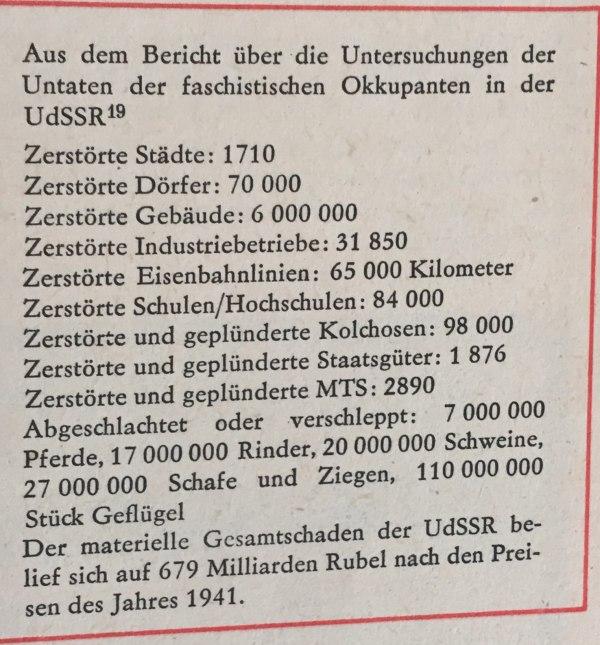 aus Bericht Untersuchungen Untaten faschistischer Okkupanten
