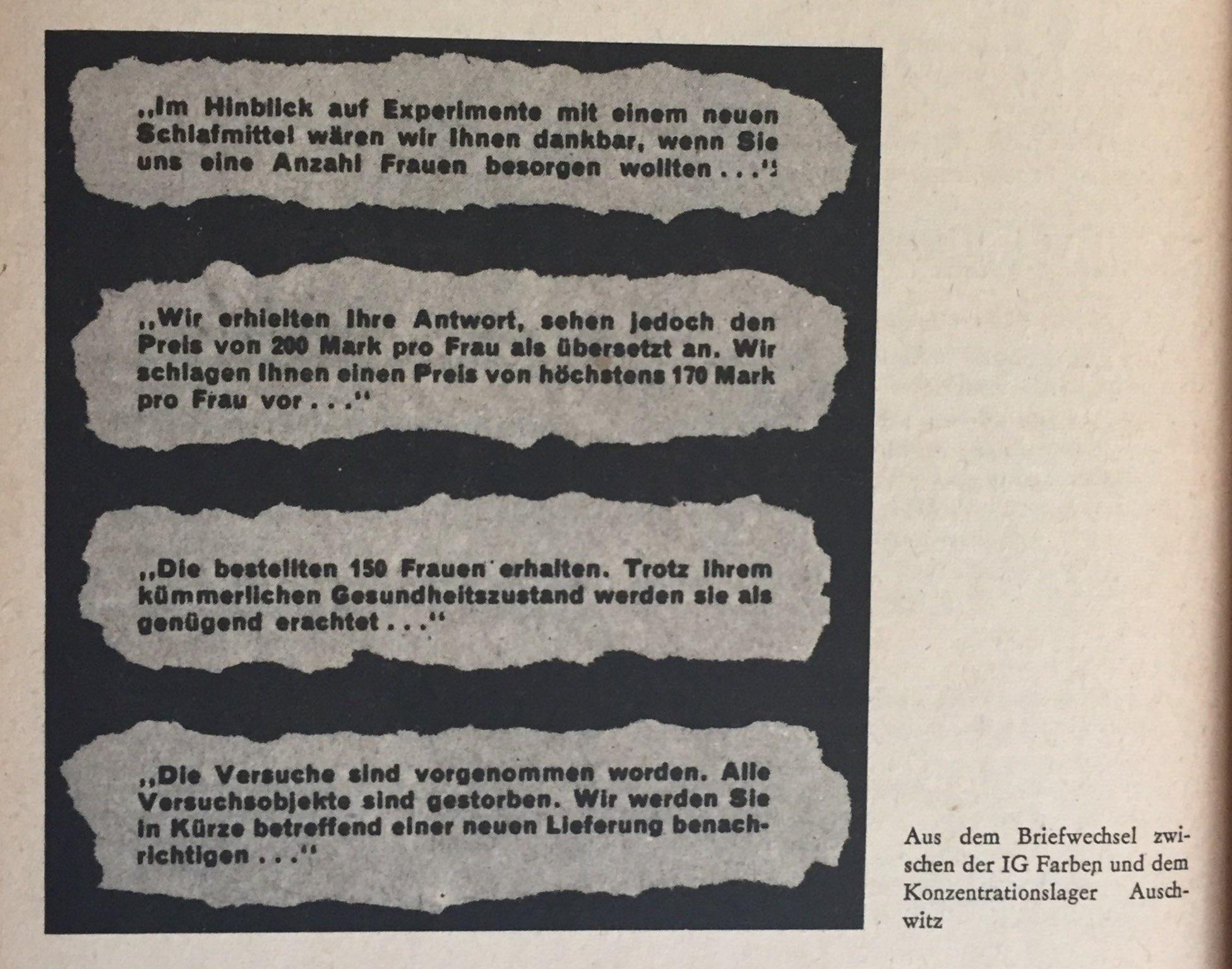 aus Briefwechsel IG Farben und KZ Auschwitz