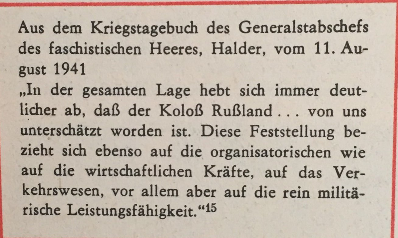 aus Kriegstagebuch Generalstabschef Halder