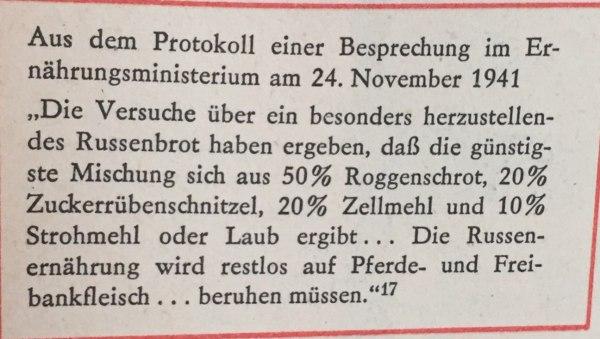 aus Protokoll Besprechung Ernährungsministerium November 1941