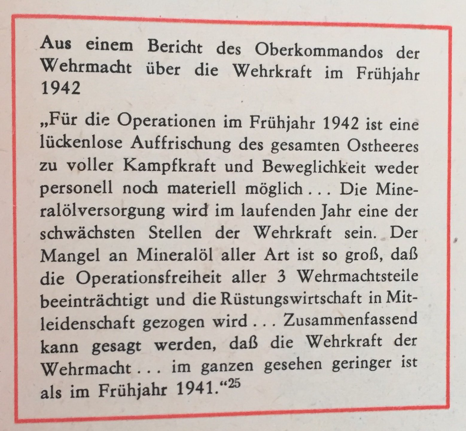 Aus Bericht Oberkommando Wehrmacht