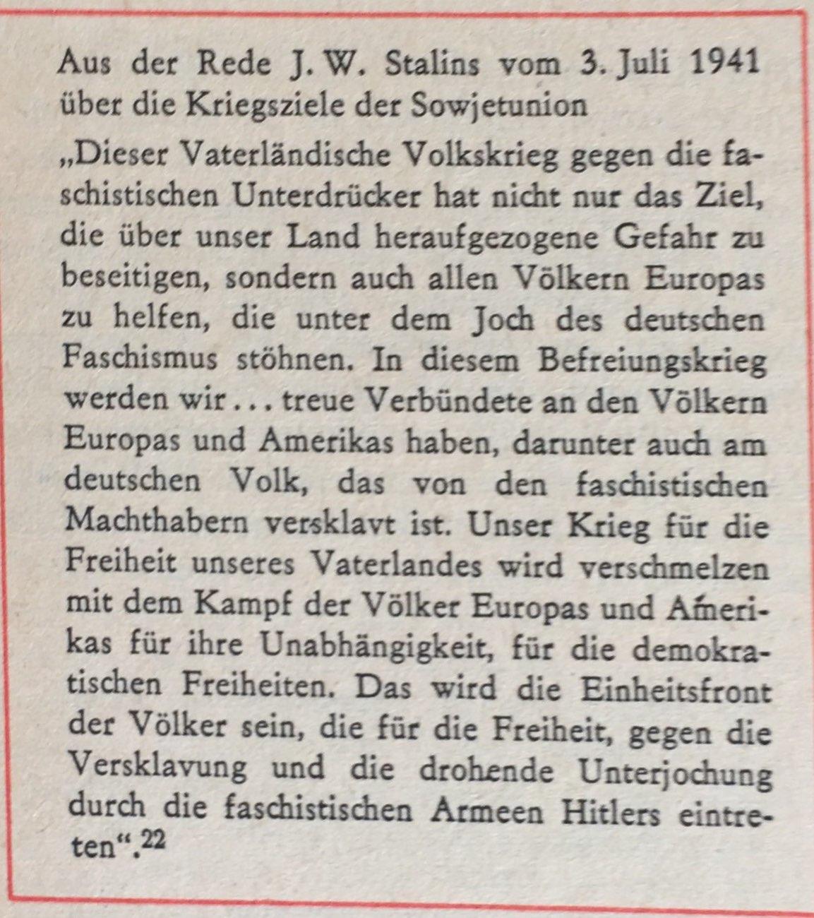 Aus der Rede Stalins vom 03.07.1941