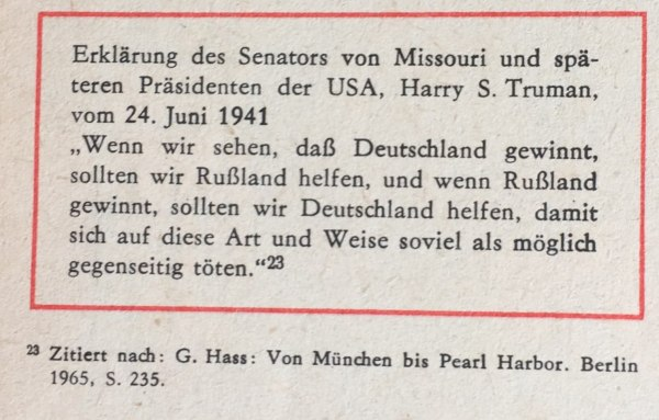 Erklärung von Harry S. Truman