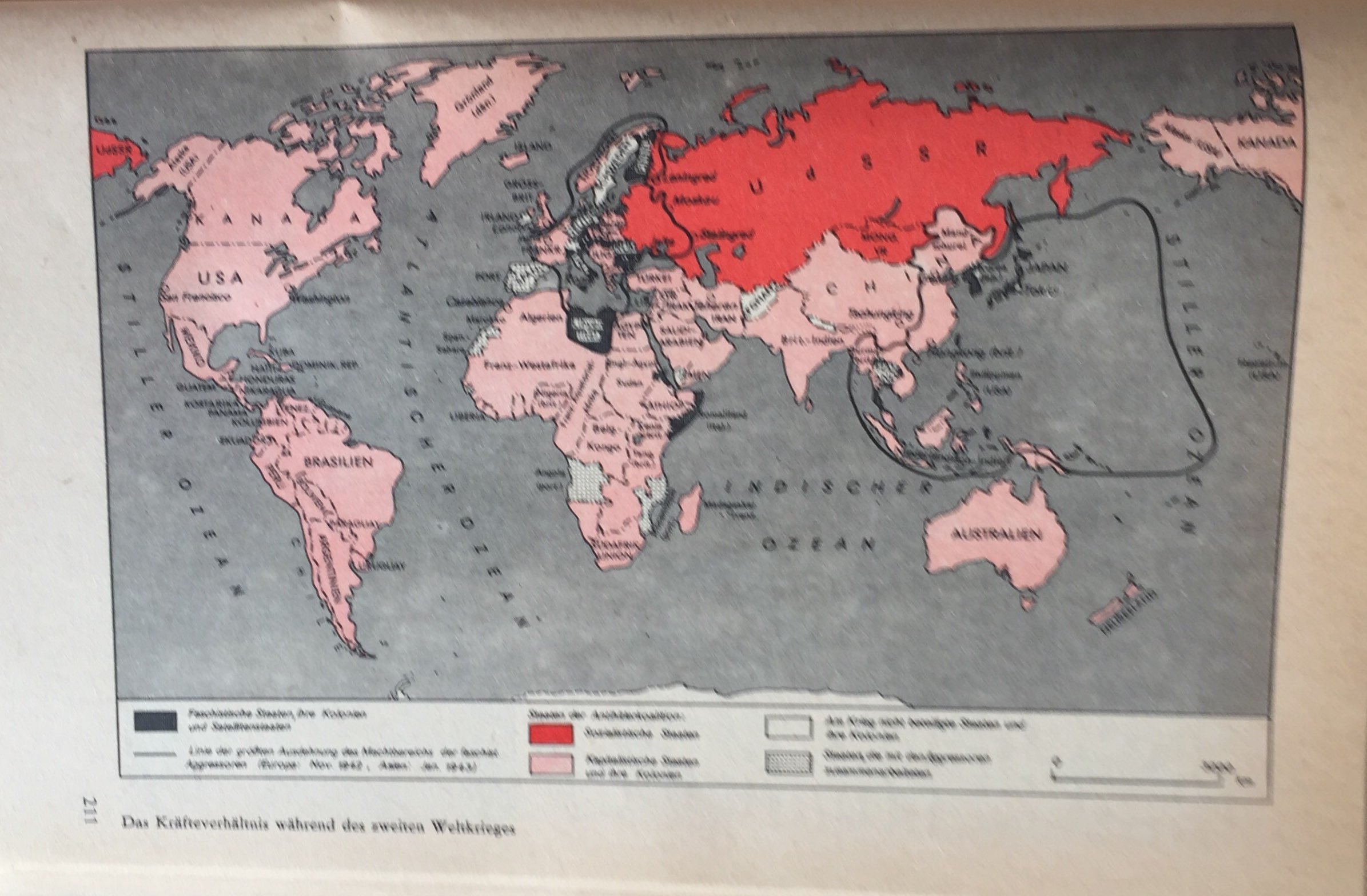 Kräfteverhältnis während des II. Weltkrieges