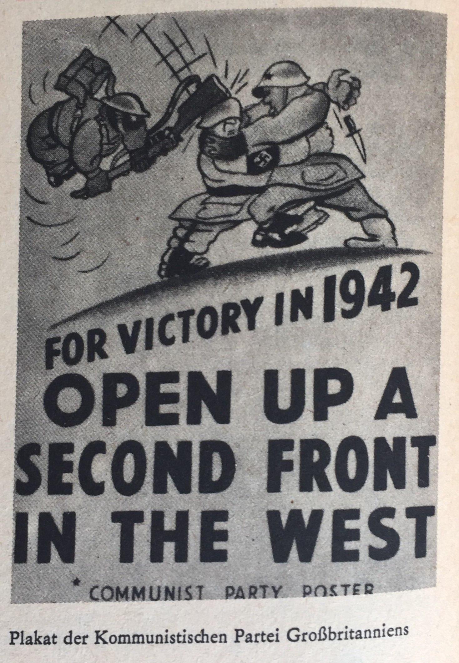 Plakat der Kommunistischen Partei Großbritanniens