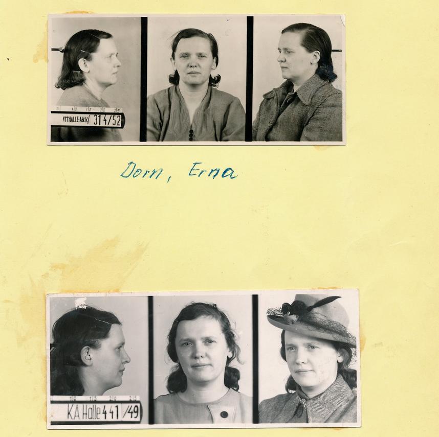 Verbrecherbild Erna Dorn