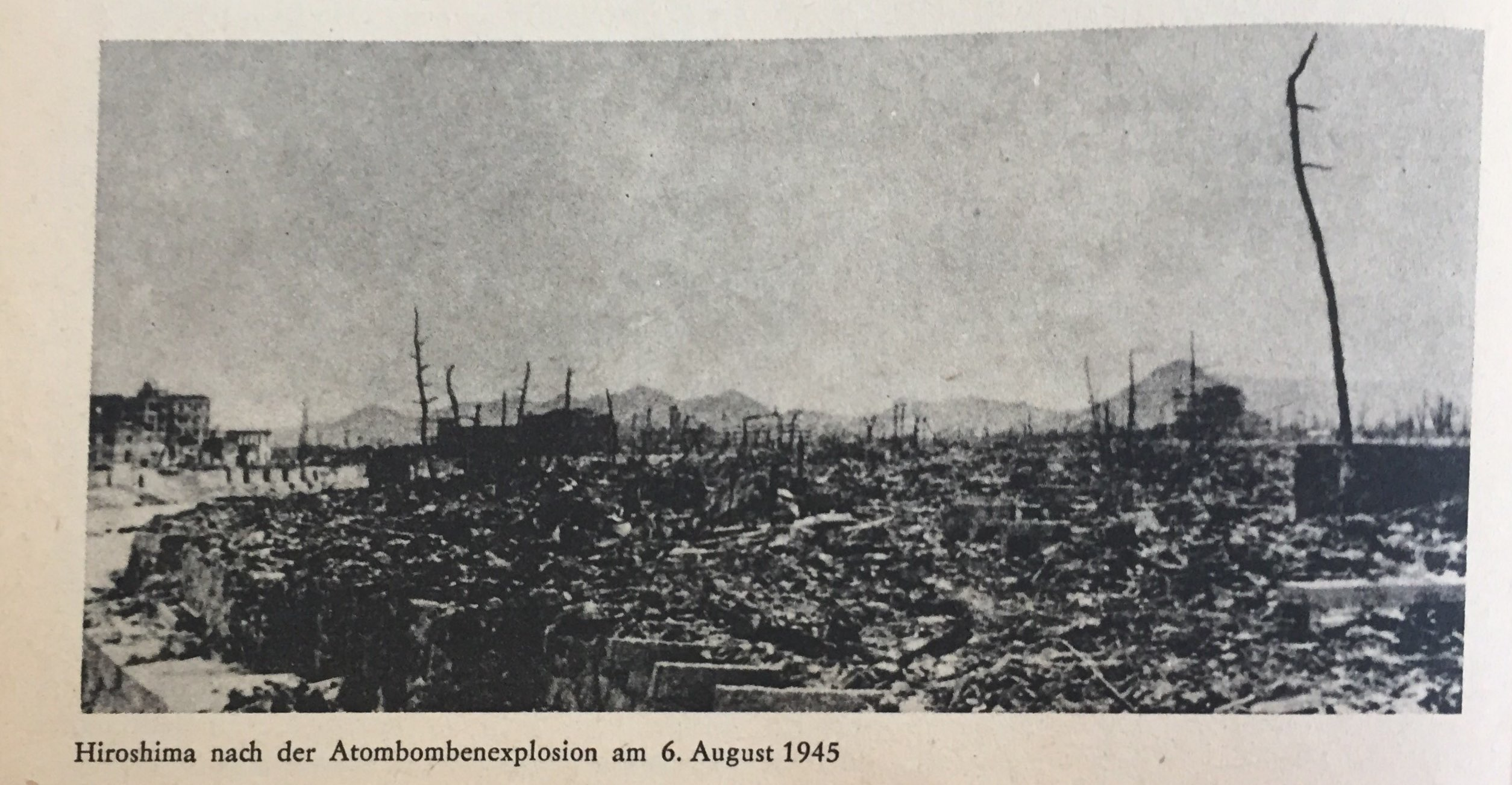 Hiroschima nach Atombombenexplosion