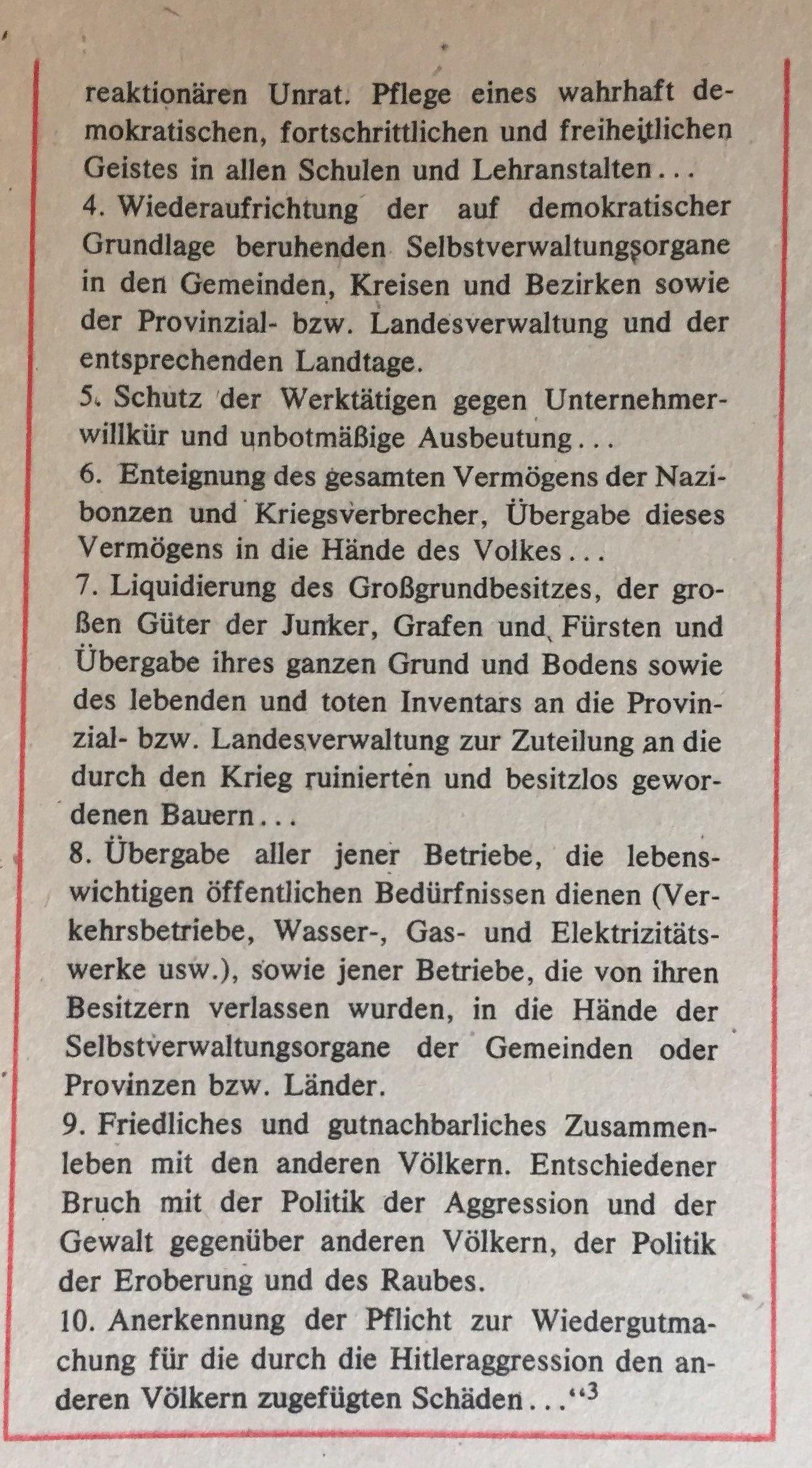 Aus Aufruf des ZK der KPD vom 11.Juni 1945 3