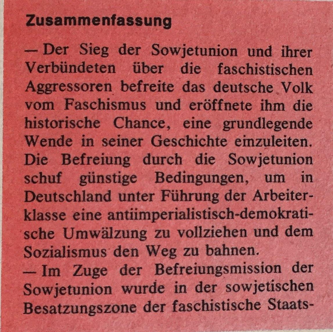 Zusammenfassung Aufruf ZK der KPD vom 11.Juni 1945