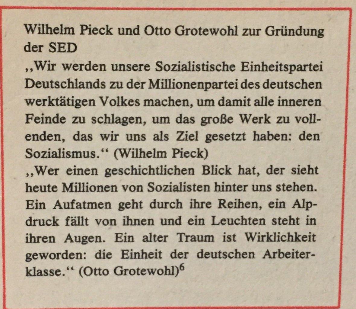 Pieck und Grotewohl zu Gründung der SED