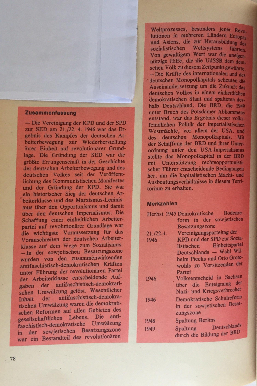 Zusammenfassung 1945 – 1949