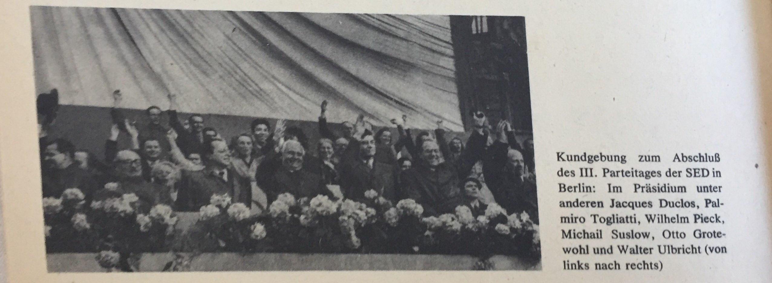 Der III. Parteitag der SED. Die Orientierung auf die planmäßige Schaffung der Grundlagen des Sozialismus