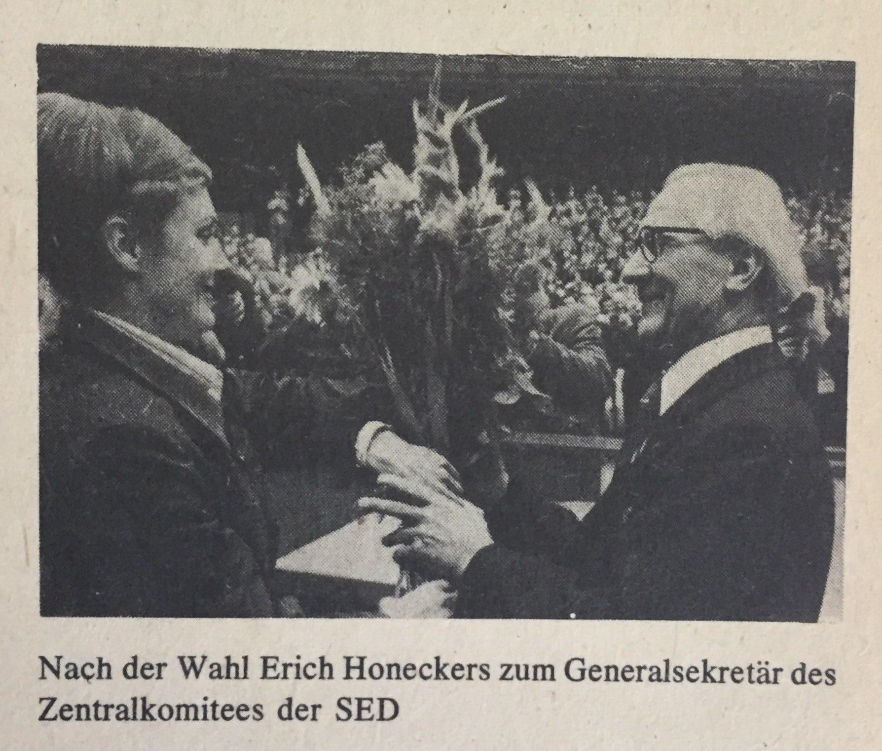 Der Wechsel von Walter Ulbricht zu Erich Honecker